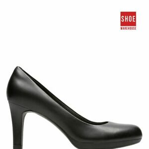 Clarks ADRIEL VIOLA Black Womens Heels Dress/Formal Synthetic Heels