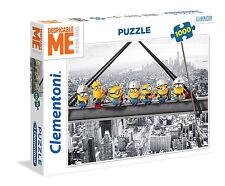 Clementoni Puzzle 1000 Teile Minions: Lunch auf einem Wolkenkratzer (39370)