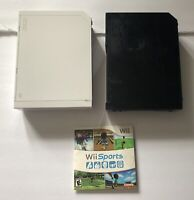 Lot Of 2 BROKEN Nintendo Wii Consoles RVL-001 As Is For Parts + Bonus Wii Sports