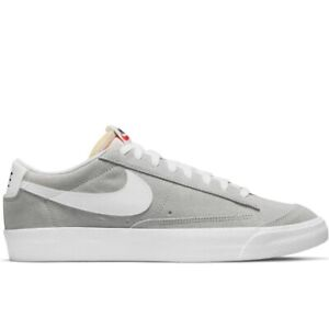 Nike Blazer Low 77 Grey Suede White DA7254-002 Skate Shoes Sneakers