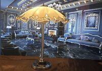 Lampe Vintage (Pied Chromé) Abat Jour (Verre)
