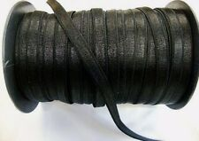"3 Yards of 3/8"" (10 mm) black satin elastic for lingerie headbands bra strapping"