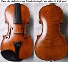 OLD GERMAN 19th Cty HOPF VIOLIN - video - ANTIQUE master バイオリン rare скрипка 201 for sale