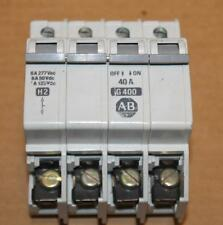 Allen Bradley 40A Breaker 1492-CB3 G400 with Shunt Contact 1492-ACB-H2