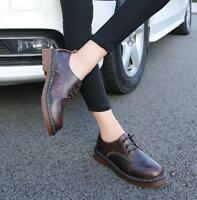 Woman spring Oxford Flats leather Brogue Oxford shoes Leather Flats shoes