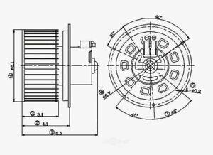 HVAC Blower Motor Global 2311596