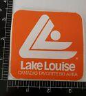 "VINTAGE 1987 LAKE LOUISE SKI AREA DECAL.3.5"" X 3.5"" UNUSED CONDITION 32 YRS OLD"