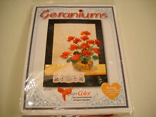 Whisper Color by Laurel Anderson Geraniums Wall art quilt pattern & CD GERANIUMS
