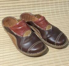 Josef Seibel Slip on Mules European Comfort Brown Leather Ladies Size UK 5