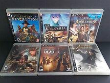 PS3 LOT: Civilization Revolution Valkyria Chronicles Walking Dead Dragons Dogma