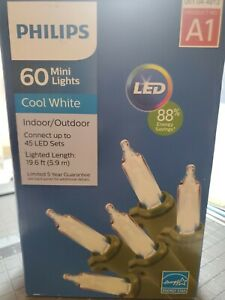 Philips LED 60 Count Cool White Mini Lights- MSRP $24.99