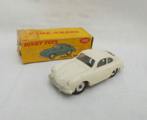 Vintage Dinky Toys 182 Porsche 356A Coupe Car - Made In England With Box