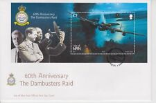 Unaddressed Isle of Man FDC First Day Cover 2003 Dambusters Raid 60th Anniv