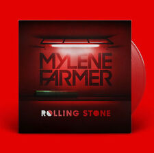 VINYLE ROUGE MAXI 12'' MYLENE FARMER ROLLING STONE RED EDITION NEUF SOUS BLISTER