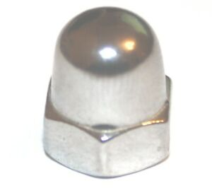 A2 M12 x 1.25 Metric Fine Dome Nuts (Packs of 10) - Multi-Listing