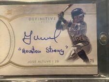 2018 Topps Definitive Jose Altuve Autographed Card #3/25