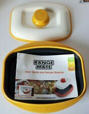 Range Mate Cooker Grill For Microwave ~ Yellow & White ~  (+ Instructions Never