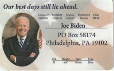 Joe Biden Vice President of the United States Id card Drivers License