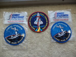 NASA VINTAGE PATCHES, DISCOVERY 7,GLENN BROWN LINDSEY, CABANA,ROSS,NEWMAN,CURRIE