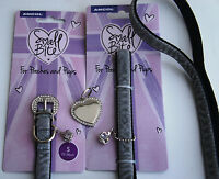 ANCOL CROWN JEWELS COLLAR AND LEAD SET WITH ENGRAVED TAG FOR SMALL AND TOY DOGS