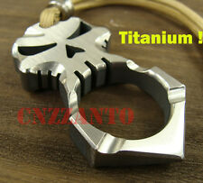 Titanium Skull self defense EDC survival escape tool key Hammer + Lanyard bead