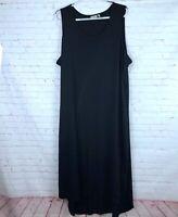 LOGO Lori Goldstein Women's Plus Size 3X Black Sleeveless Hi Lo Maxi Dress