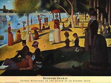 "Georges Seurat 32x24"" Sunday Afternoon On Island of La Grande Jatte Poster Print"