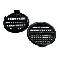 8 x Black Plastic 70mm Round Soffit Air Vents / Upvc Push Fit Eaves Disc Fascia