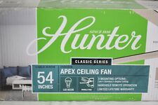 Hunter Apex Ceiling Fan 54 in. LED Reversible Blade Remote Control - 59156 - NOB