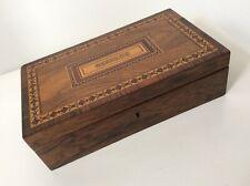 .Antique Tunbridge ware Besique box