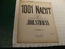 Original DUTCH sheet music: 1001 NACHT von JOH. STRAUSS amsterdam