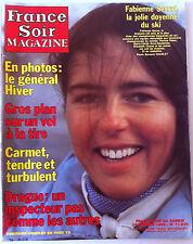 France Soir Magazine du 16/01/1982; Fabienne Serrat/ Carmet/ L'autre Belmondo