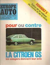 EUROPE AUTO 1972 58 ALFA 2000 CITROEN GS FIAT 128 RALLY TAUNUS 1300 ASCONA 1200