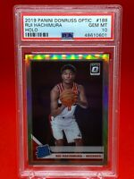 Rui Hachimura 2019-20 Donruss Optic RC #188 Silver Holo Prizm PSA 10 - Wizards