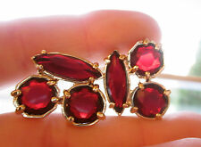 KATE SPADE NY RUBY CLUSTER EARRINGS 14K gold filled posts LARGE STUDS RICH RED