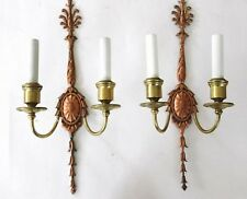 OFFERS WELCOME! (2) Tall Copper and Brass E F Caldwell Signed Sconces Circa 1904
