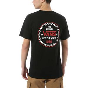 Vans T-Shirt da Uomo Checker 66 Nera Codice VN0A4ROBBLK - 9M