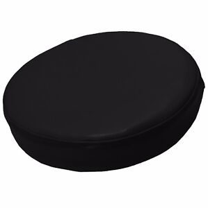 Pe201r Black Extra Thick Faux Leather Sheep 3D Round Cushion Cover Custom Size
