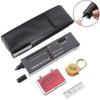 Portable Diamond Tester Gemstone Tester Selector Jeweler Tool With 30x Magnif L#