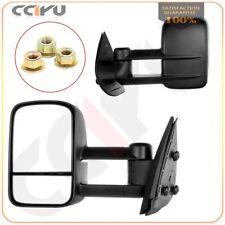 Manual Telescopic Tow for 2007-14 Silverado Sierra 2500 3500HD Side Mirrors Pair