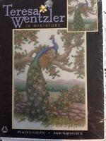 Teresa Wentzler in Minature Peacock Majesty counted cross stitch kit sealed