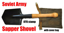 Original Russian Soviet Infantry Trench Military Shovel Steel Spade Bag 1984 OTK
