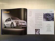 Renault range Brochure 2001, Clio Sport, 172, V6 Megane, Scenic, Espace, Kangoo