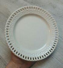 Rare et ancienne assiette plate ajourée en faïence de SARREGUEMINES mi XIXème