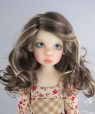 "DOLL Wig, Monique Gold ""Ciara"" Size 5/6, Brown w Blonde Highlights"