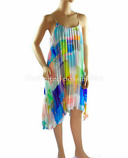 Portmans Electric Pleated Dress Multi Coloured Size 10 With Tags