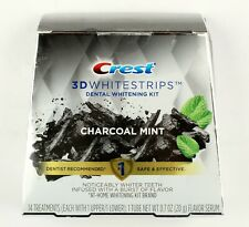 *Crest 3D Whitestrips Charcoal Mint Teeth Whitening Kit 14 Treatments Exp. 08/21