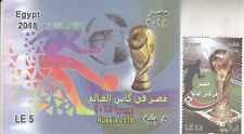stamps EGYPT 2018 SOCCER FOOTBALL WORLD CUP RUSSIA NEW  MNH SET */*