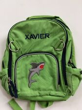 Pottery Barn Kids Small Fairfax Green and Blue Backpack with Name XAVIER New