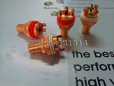 4Pc Red Copper Plated RCA Socket Chassis Female HiFi Amp terminal